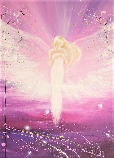 Anioł, anioły, fioletowy promień, Maria Bucardi